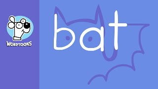 Draw The Word Bat Into A Bat - Halloween Wordtoon Bat