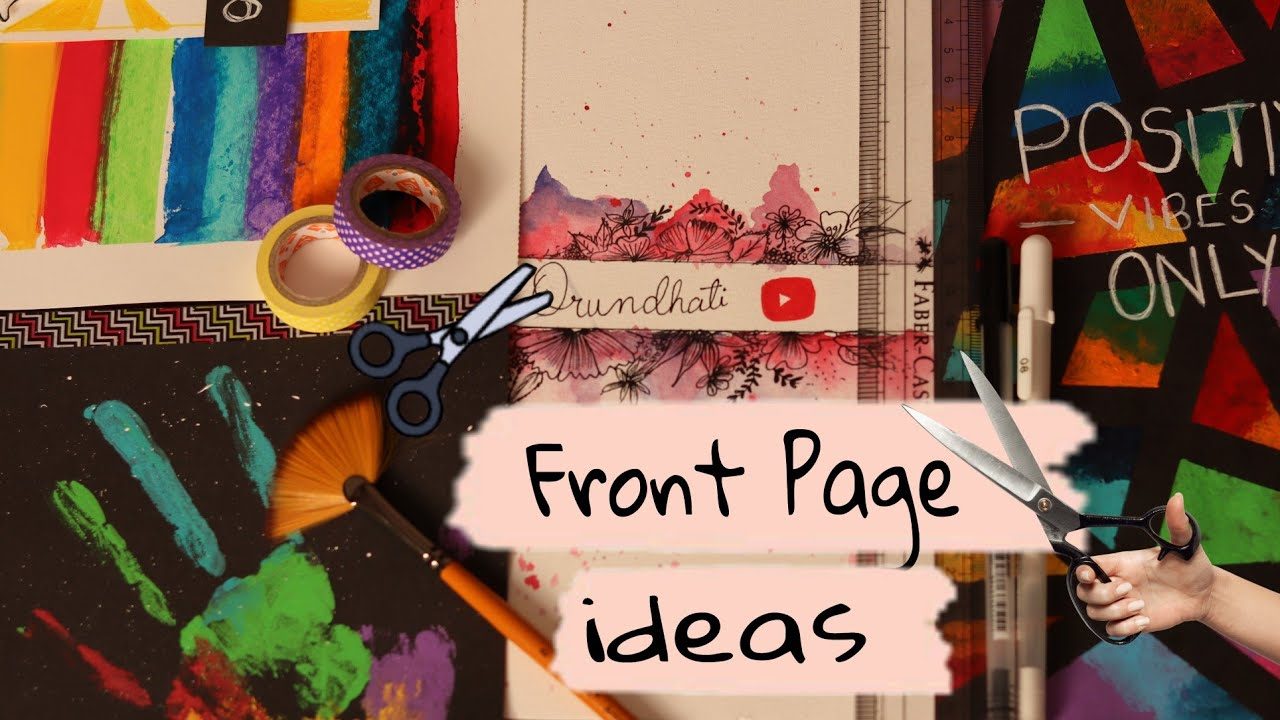 front page design for school project | journal cover ideas
