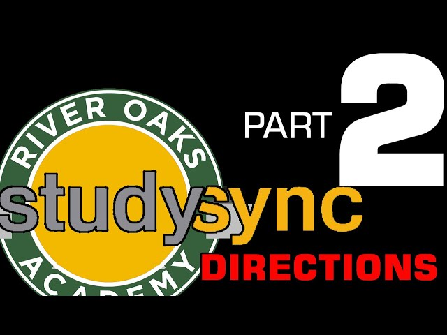Studysync Directions Part 2 - Intro