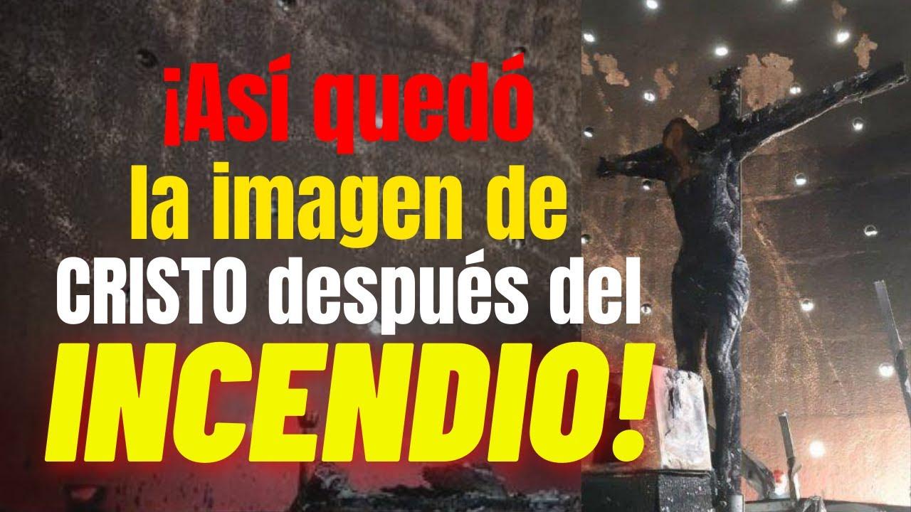 ATENTADO: Incendio de imagen de Cristo con más de 300 años en Nicaragua.