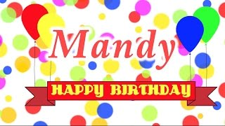 Happy Birthday Mandy Song