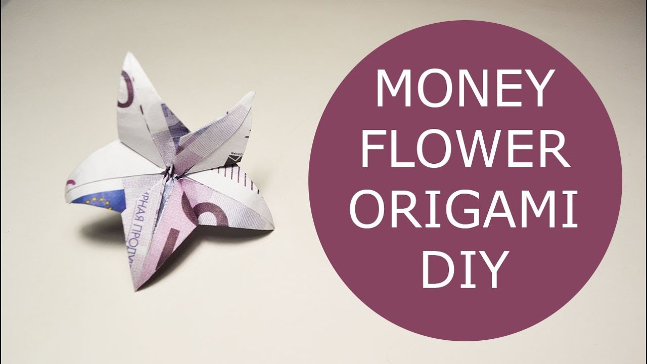 Money flower origami euro tutorial diy folded no glue youtube money flower origami euro tutorial diy folded no glue mightylinksfo