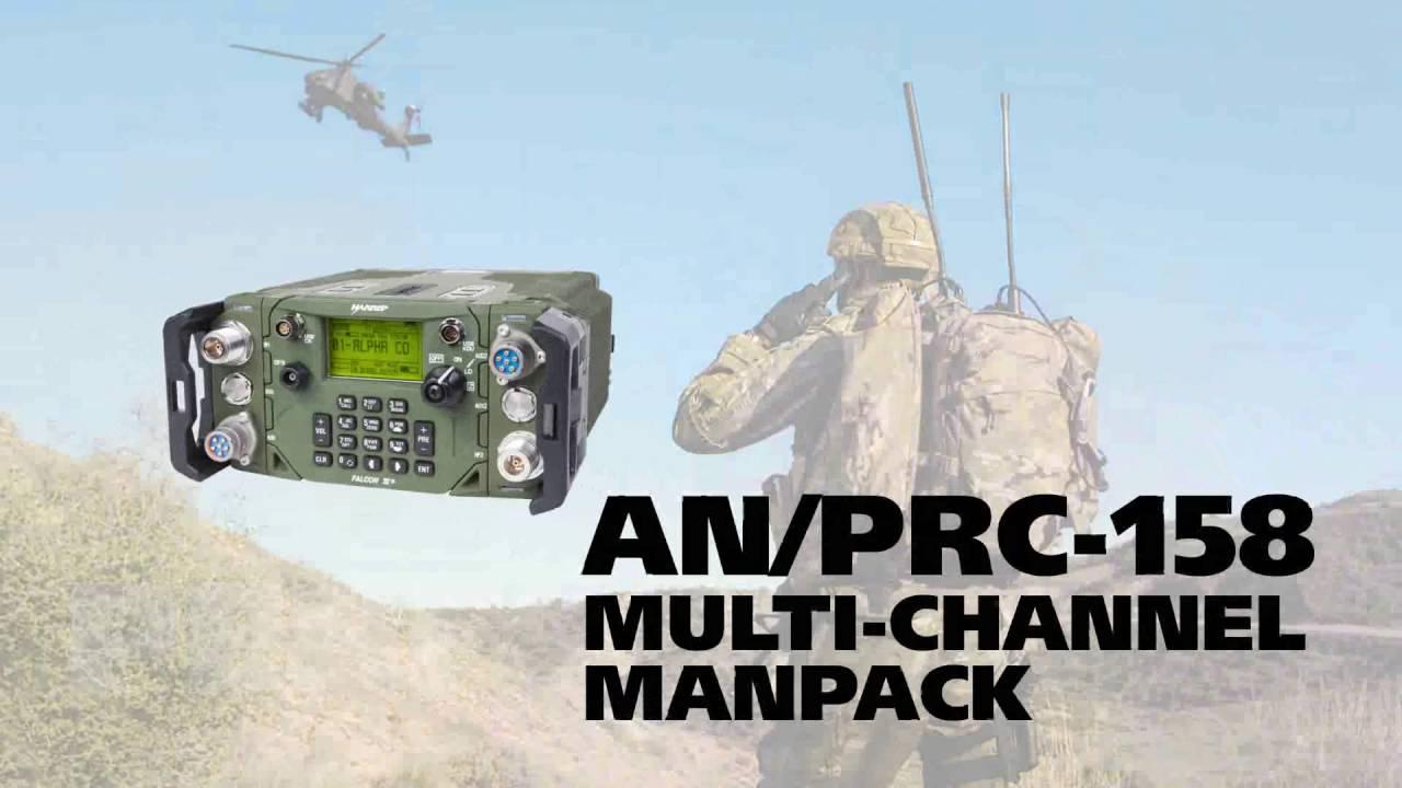 L3Harris Falcon III® AN/PRC-158 Multi-channel Manpack (MCMP)