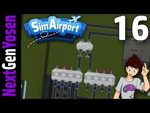 SimAirport - BAGGAGE CONVEYOR HUB!! - Let's Play SimAirport Ep 16 (Sim Airport Game Gameplay)