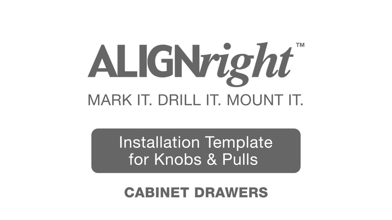 alignright cabinet hardware installation template for knobs pulls