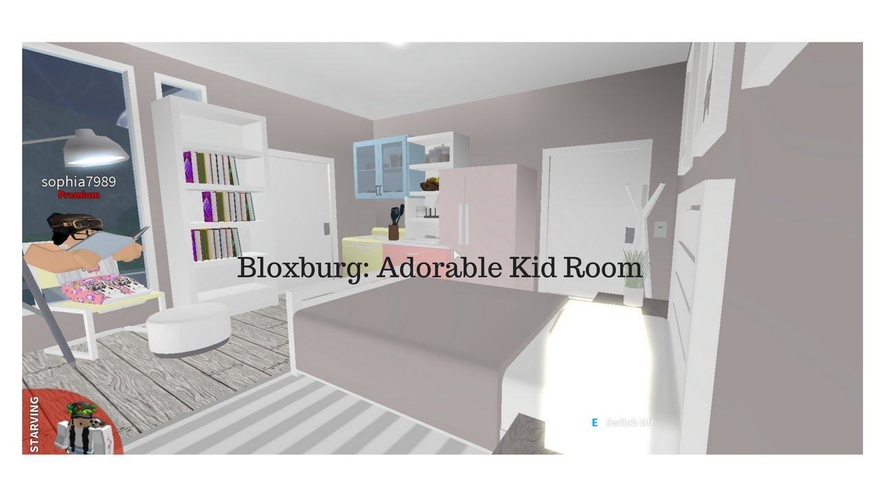 Bloxburg Adorable Kid Room Youtube