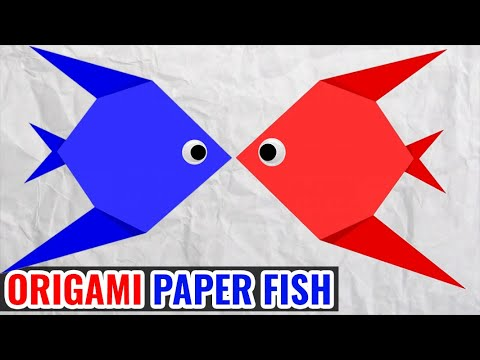 How to Make FISH With Paper - Easy Origami Paper Crafts for Kids! Paper Folding DIY Crafts