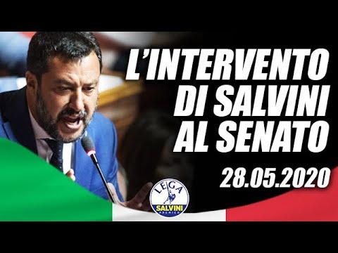 MATTEO SALVINI IN DIRETTA DAL SENATO (28.05.2020)