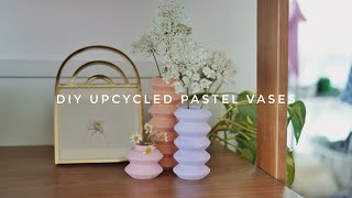 upcycling this into pastel stem vases