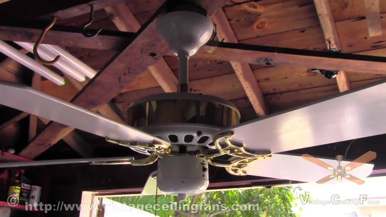 Antica Codep Brass & White 42 Inch 5 Blade Ceiling Fan