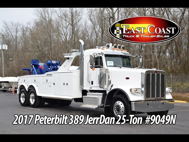2017 Peterbilt 389 25Ton with Jerr-Dan 25 Ton INT Tandem Axle - Stock#9049N