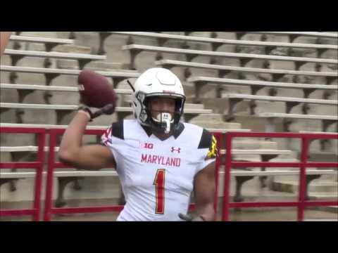 D.J. Moore One-Handed Touchdown Catch - Maryland Spring Football