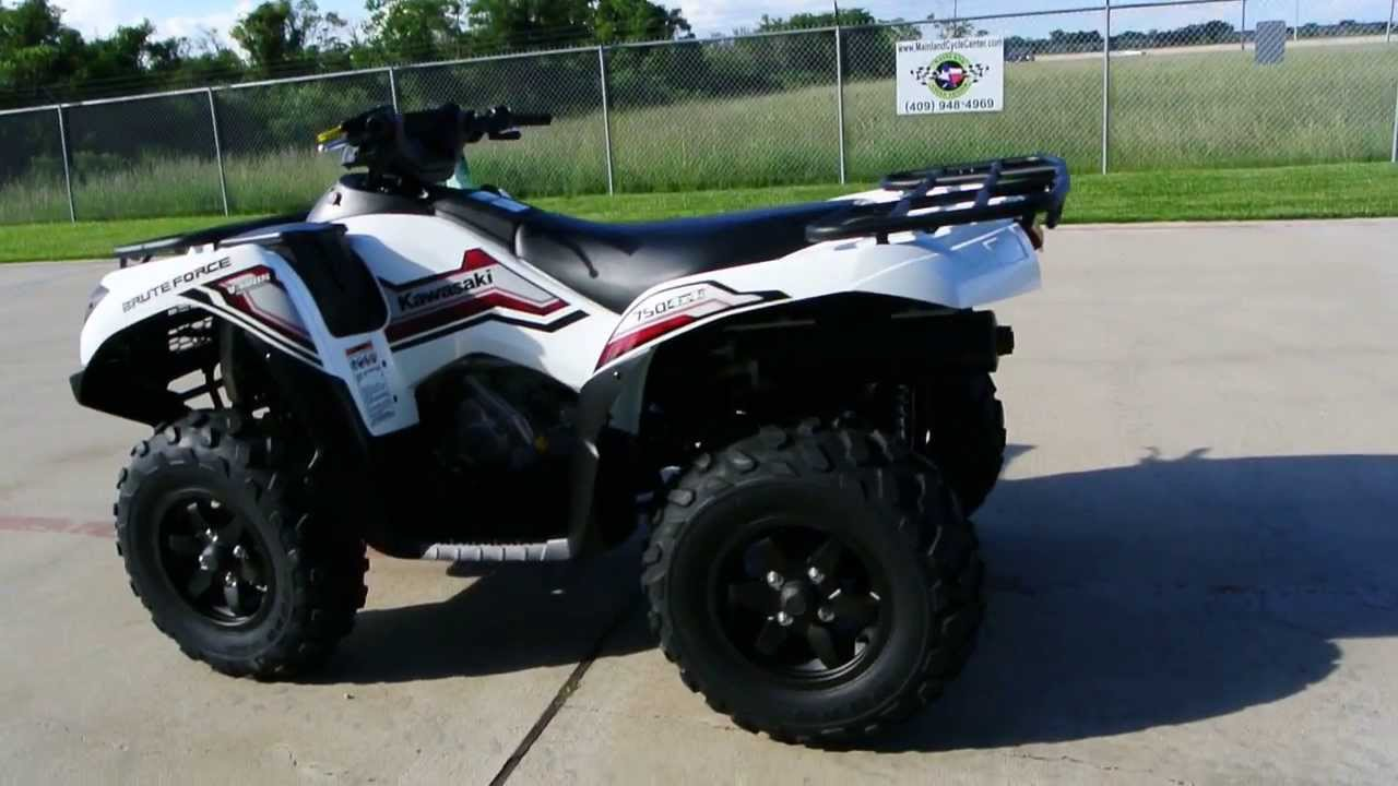2014 kawasaki brute force 750 in bright white for sale 9 299 youtube. Black Bedroom Furniture Sets. Home Design Ideas