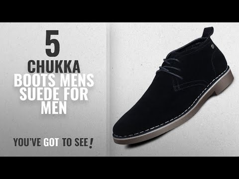 Top 10 Chukka Boots Mens Suede [ Winter 2018 ]: Men's Suede Dessert Boot Lace up Leather Oxfords