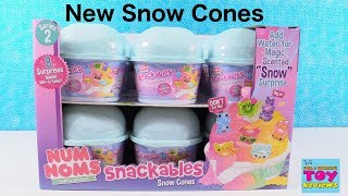 Num Noms Snow Cones Series 2 Snackables Toy Opening | PSToyReviews