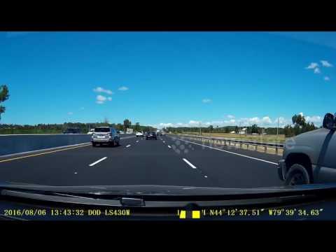 Nice Lane Change Highway 400 Ontario