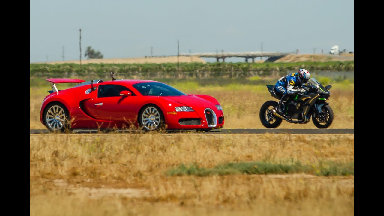 Kawasaki Ninja H2r Vs Bugatti Veyron Drag Race 2016 Lamborghini Aventador  Vs F16 Fighting Falcon   YouTube