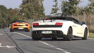 Supercars Leaving Car Meet LOUD! F12tdf, GT-R, Huracan, R8 V10 & More!