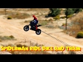 Spiderman Ride Bike and Train   Funny Cartoon For Kids Nursery Rhymes