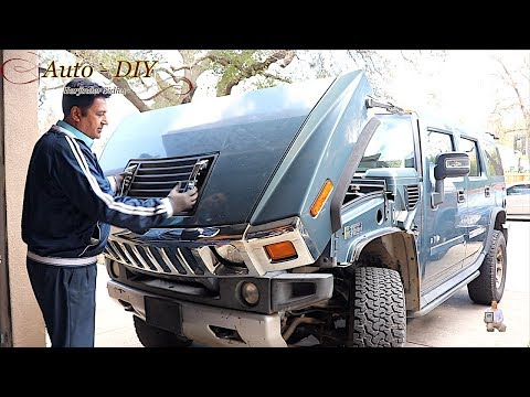 Upgrade Black Handles To Chrome Handles on HUMMER H2 | Replace Hood Vent on HUMMER H2