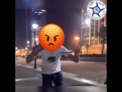 شاب يهدد فتاة بالساطور ليأخذ رقم جوّالها يشعل #الكويت