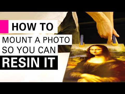 Mounting a photograph so you can do an epoxy resin topcoat
