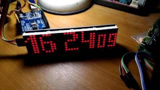 arduino matrix clock and thermometer