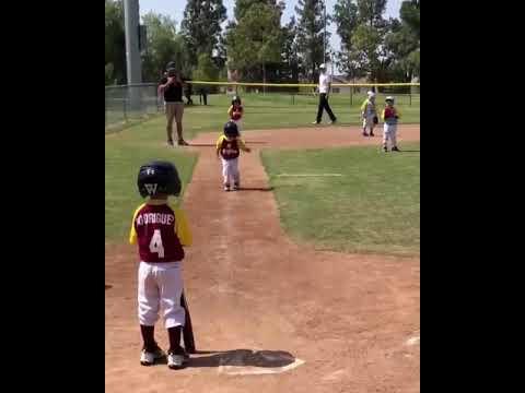 Little boy runs in slow motion