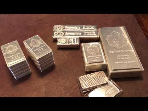 292.15 Oz Of Scottsdale Mint Silver Bars