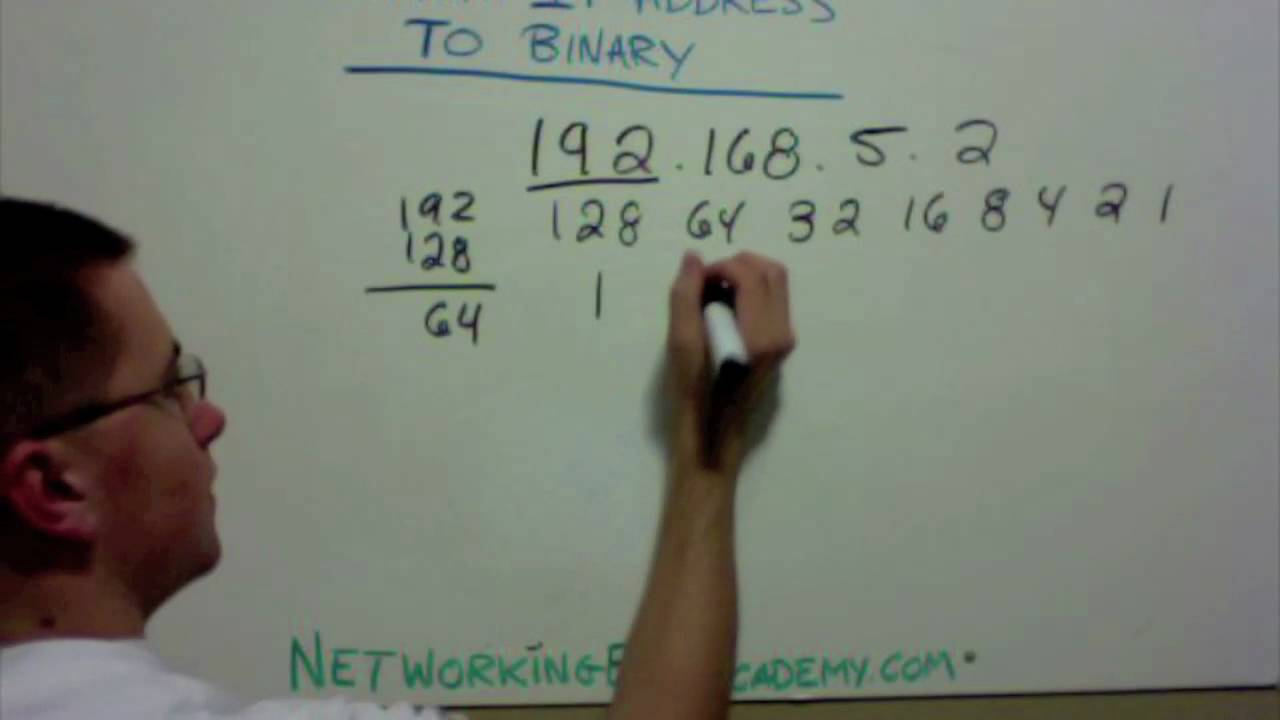 How to Convert an IP Address to Binary  YouTube