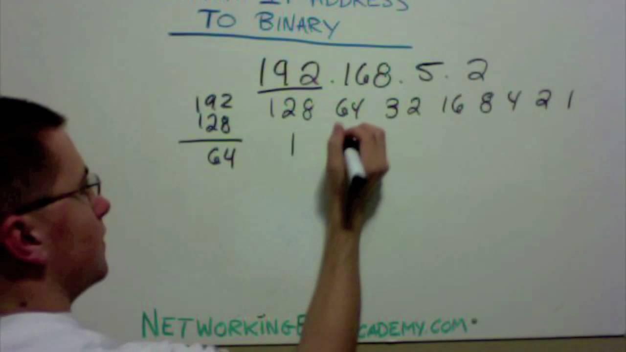 How to convert an ip address binary also youtube rh
