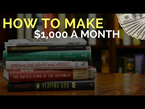 How To Make $1,000 A Month Selling Books On Amazon FBA