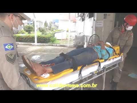 Moto taxista e atropelado por veiculo no centro de Colíder. (Vídeo)
