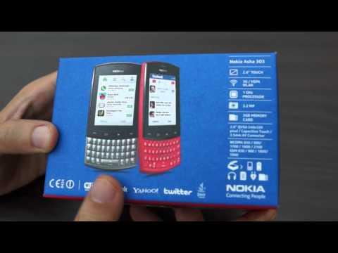 عملية فتح الصندوق للهاتف Nokia Asha 303
