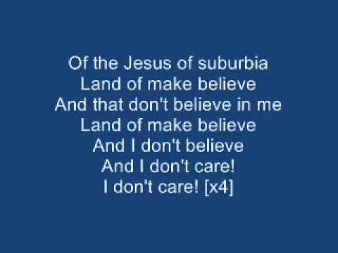 Green Day - Jesus Of Suburbia [Lyrics on Screen]