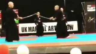 Toyama Ryu bunkai examples as demonstrated by Steve Balfe and Phil Powell.