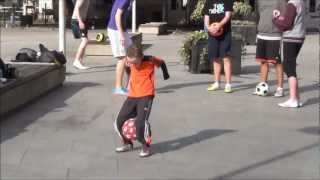 Ciaran Duffy Mini Messi Age 8  At Irish Soccer Freestying Meet March 2012