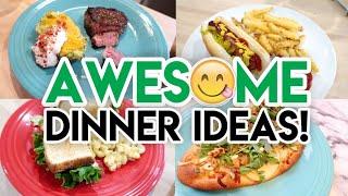 WHAT'S FOR DINNER? 😁 9 FAMILY DINNER IDEAS! 🍽 CHEESY POTATOES 🍗 BBQ CHICKEN 🥗 STROGANOFF MEATBALLS