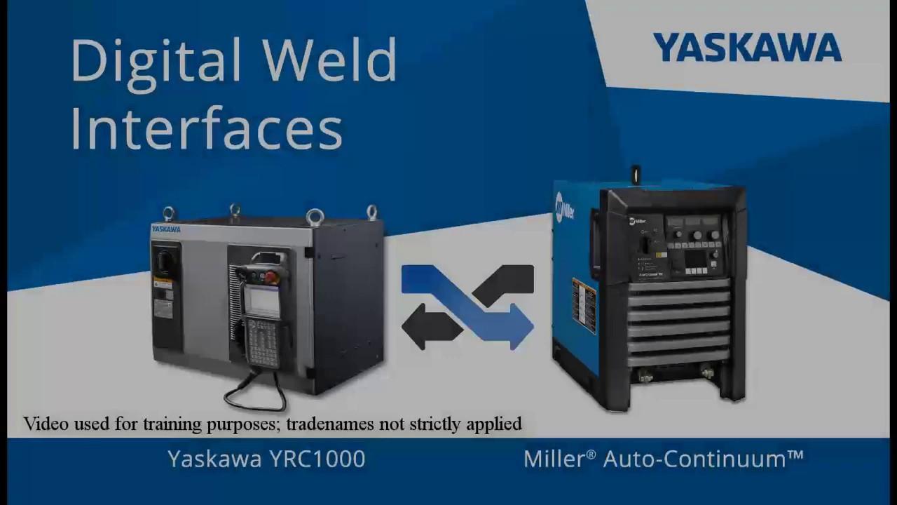 Robotic Welding Interface for Miller | Yaskawa Motoman
