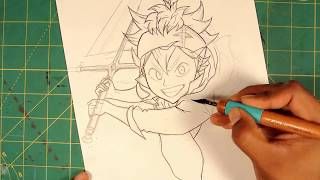 Asta Black Clover Drawing