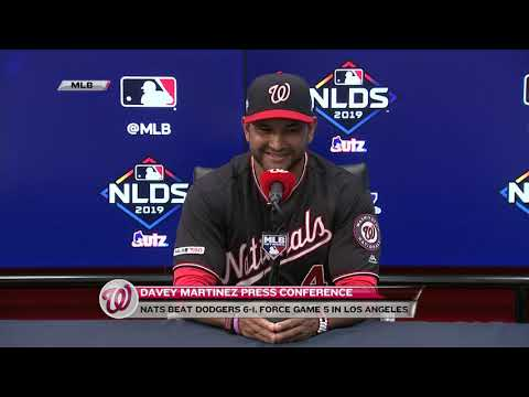 Davey Martinez After Nats' Win NLDS Game 4