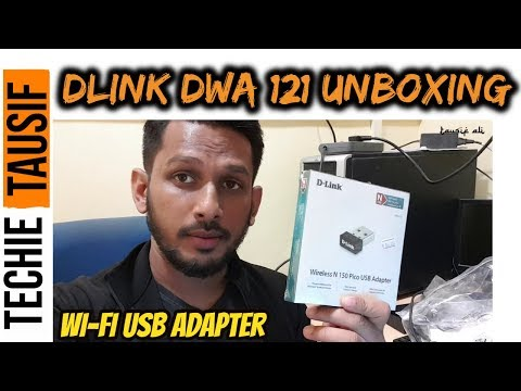 Dlink DWA 121 Wifi Adapter Unboxing || Techie Tausif
