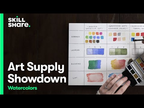 How to Choose the Best Watercolor Brand for You | Art Supply Showdown | Skillshare