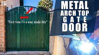 Metal Arch Top Gate With Security Screen | JIMBO'S GARAGE