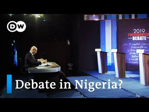 Nigeria holds first ever televised presidential debate   DW News