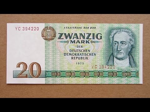 20 east german mark banknote twenty east german mark. Black Bedroom Furniture Sets. Home Design Ideas