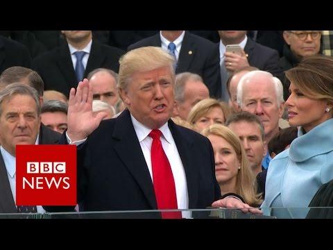 Donald Trump sworn in as US President. - BBC News