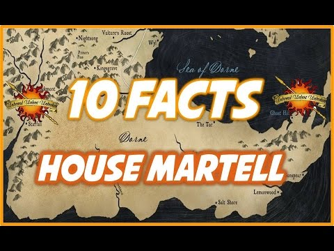 10 House Martell Facts