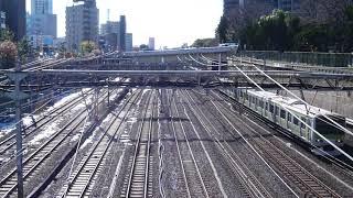 絶景。品川駅八ツ山橋。