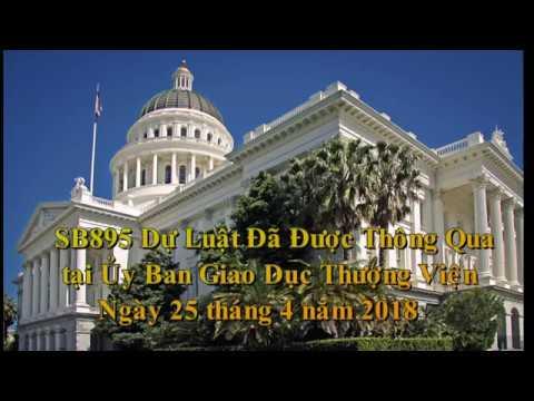 Dự Luật SB895 Đã Thông Qua U BG D Thượng Viện ngay25 4 2018
